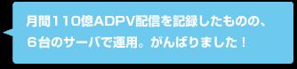月間110億ADPV配信